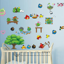 New Large Angry Birds Removable Wall Sticker Vinyl Decal Kids Nursery Baby Decor