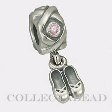 Authentic Pandora Sterling Silver Dangle Ballerina Pink CZ Bead 790520PCZ