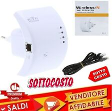 WIRELESS-N WIFI REPEATER 300 Mbps RIPETITORE  AMPLIFICATORE LAN RETE WPS