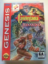 Castlevania Bloodlines - Sega Genesis - Replacement Case - No Game