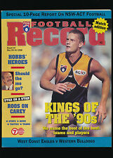 1998 AFL Football Record West Coast Eagles v Western Bulldogs Round 10 unmarked