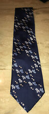 Vintage Randa Corp Wide Navy Floral Flower Power Tie Made In Italy