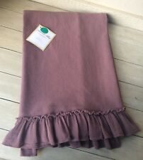 PEACOCK ALLEY COTTON THROW PENNY RUFFLE SHABBY CHIC ~ MADE IN PORTUGAL