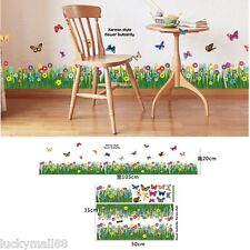 Grass Floral Ladybug Vinyl Removable DIY Kid Room Decor Wall Sticker Decal Mural
