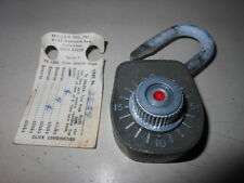 NOS NEW Vintage Antique Miller Lock Company Keyless Combination Lock 1933