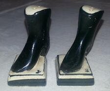 Vintage Signed JAPAN Procelain High Heel Boots Salt & Pepper Shakers