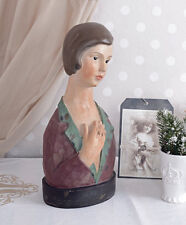 Window Decoration Art Deco Bust Vintage Woman's Head Jewellery Head