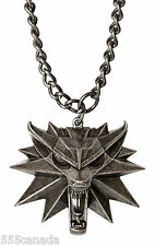 The Witcher 3 III Wild Hunt Wolf Medallion - Necklace  BRAND NEW
