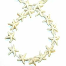 NG2399j Creamy White Turquoise 14mm Star Starfish Magnesite Gemstone Beads 15""