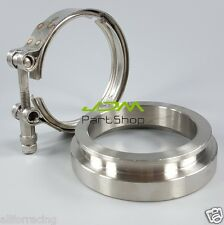 """T304 GT45 3.25""""ZINC COATED TURBO DOWNPIPE EXHAUST DOWN PIPE V-BAND CLAMPS+FLANGE"""