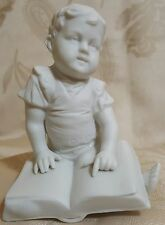 Antique German White Porcelain Biscuit Boy Figurine