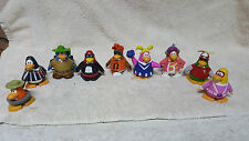 "Lot of 9 CLUB PENGUIN Figures PVC Figurines Disney JAKKS 2"" Collectible Toys"
