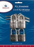 Stainless Steel Marine Padlocks Set of 4 Shackle Padlock Lock Keyed Alike  PAD1