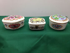 Lot of  3 Porcelain Music Boxes Franklin & Heritage House Love Songs Japan {186}