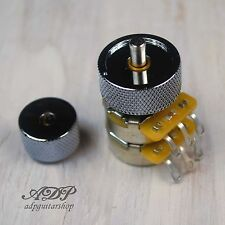 DOUBLE POTENTIOMETRE CTS EP-4586 Concentric Pot 500K/500K A + BOUTON Knob CHROME