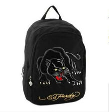Ed Hardy - Josh Black Panther Tatoo - Black Embroidery on Black BACKPACK