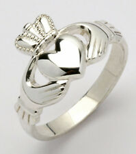 Irish Handcrafted Gents Silver claddagh ring size 10