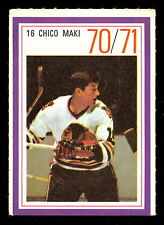 1970-71 ESSO POWER PLAYERS NHL #16 CHICO MAKI  EX-NM BLACK HAWKS UNUSED STAMP