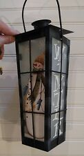 Metal Winter / Holiday Snowman With Hanging Hook Candle Holder Lantern Christmas