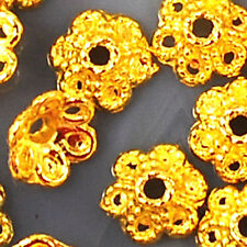 6x3mm Gold Plated Bead Cap 100pcs (JFD62)a for DIY Jewelry