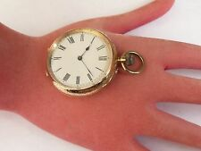 ANTIQUE 40MM 18K SOLID GOLD RARE SIR JOHN BENNETT OPEN FACE POCKET WATCH IN FWO