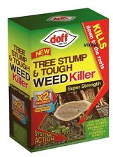 TREE STUMP & TOUGH WEED KILLER SUPER STRENGTH KILLS TO THE ROOTS 2 SACHETS