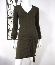 LA REDOUTE CREATION MADE IN FRANCE LONG SLEEVE DRESS SIZE 2, BROWN
