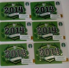 Starbucks Graduation Class of 2014 Gift Card Lot 6 Released 2014 No Value