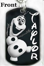 FROZEN OLAF - Dog tag Necklace or Key chain + FREE ENGRAVING