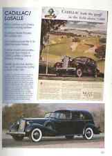 1936 Cadillac V-16 Town Cabriolet + LaSalle Article - Must See !!