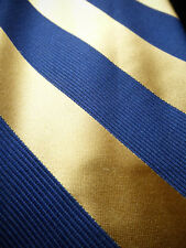 BROOKS BROTHERS Navy Gold Classic Satin Stripe Silk Tie ~ NWOT ~ MSRP $79 NEW