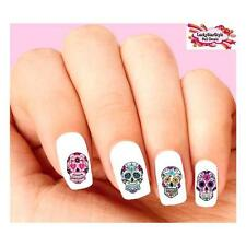 Waterslide Skulls Nail Decals Set of 20 - Day of the Dead Sugar Skull Assorted