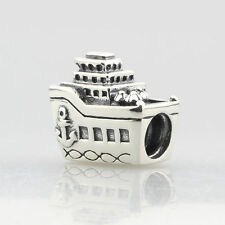 Auth Genuine Pandora Silver All Aboard Cruise Ship Boat Travel Charm Bead 791043