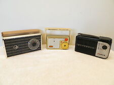VINTAGE OLD ANTIQUE MID CENTURY TRANSISTOR RADIO BLOWOUT SALE ALL FOR 1 BID