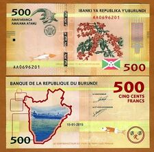 Burundi, 500 Francs, 2015, P-New, UNC   New Design   Crocodile