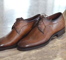 SANTONI *Limited Editions* Hand Welted Leather Oxford Mens Shoes 7.5UK/8.5US