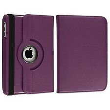 Purple 360 Degree Rotating Leather Case Smart Cover Stand for Apple Ipad Mini
