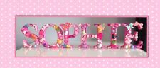 6 LETTERS NAME FREESTANDING WOODEN  nursery Decoration Christening Baby Gift