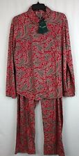 LAUREN RALPH LAUREN PAJAMAS 2 Pc Shirt Pants Size XL W/Monogram  retail  $68.00