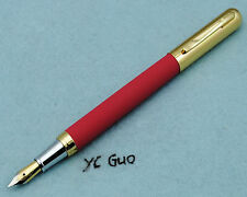 Vintage Hero 395 Red Fountain Pen Fine Nib Made in 1990s