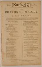 1790s Charms of Melody Siren Medley Army & Navy Britain Forever First Printing