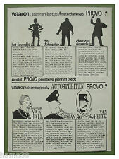 PROVO 1966: election flyer; Willem (Bernard Holtrop), vintage anarchist pamphlet