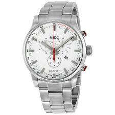 Mido Multifort Chronograph Silver Dial Stainless Steel Mens Watch M0054171103100