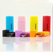 New Micro SD SDHC Memory Card USB Adapter Reader T-FLASH Colorful