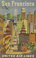 020 Vintage Travel Poster Art San Francisco  *FREE POSTERS