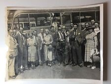 Vintage Real Photograph - #L Group Day Trip Coach - Coventry Evening Telegraph