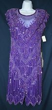 NWT Scala BG Haute Plum gown, pageant, prom, evening, Mom of, bridal SIZE Small
