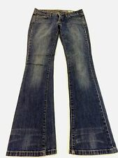 CONVERSE ONE STAR WOMENS MED WASH DINGY BLUE DENIM BOOTCUT JEANS SIZE 2