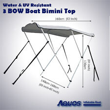 NEW & Longer 3-Bow Deluxe Sun Canopy Bimini Top Suit 11 to 14 Foot Boat