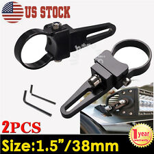"2X 1.5"" 38mm Rigid Bullbar Mount Bracket Tube Clamps For LED Light Bar HID ATV"